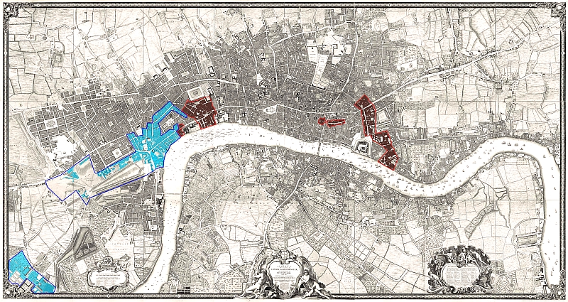 London 1600 Map.Background Parishes London Lives
