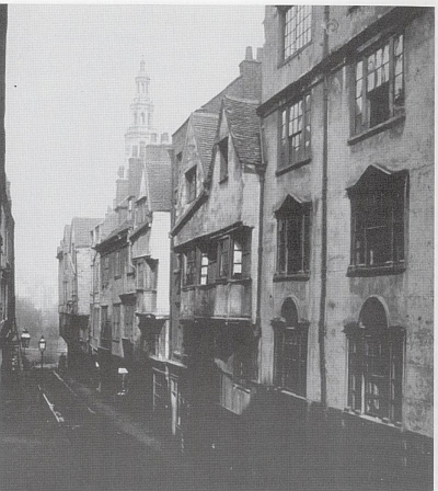 Wych Street looking eastward, 1867.